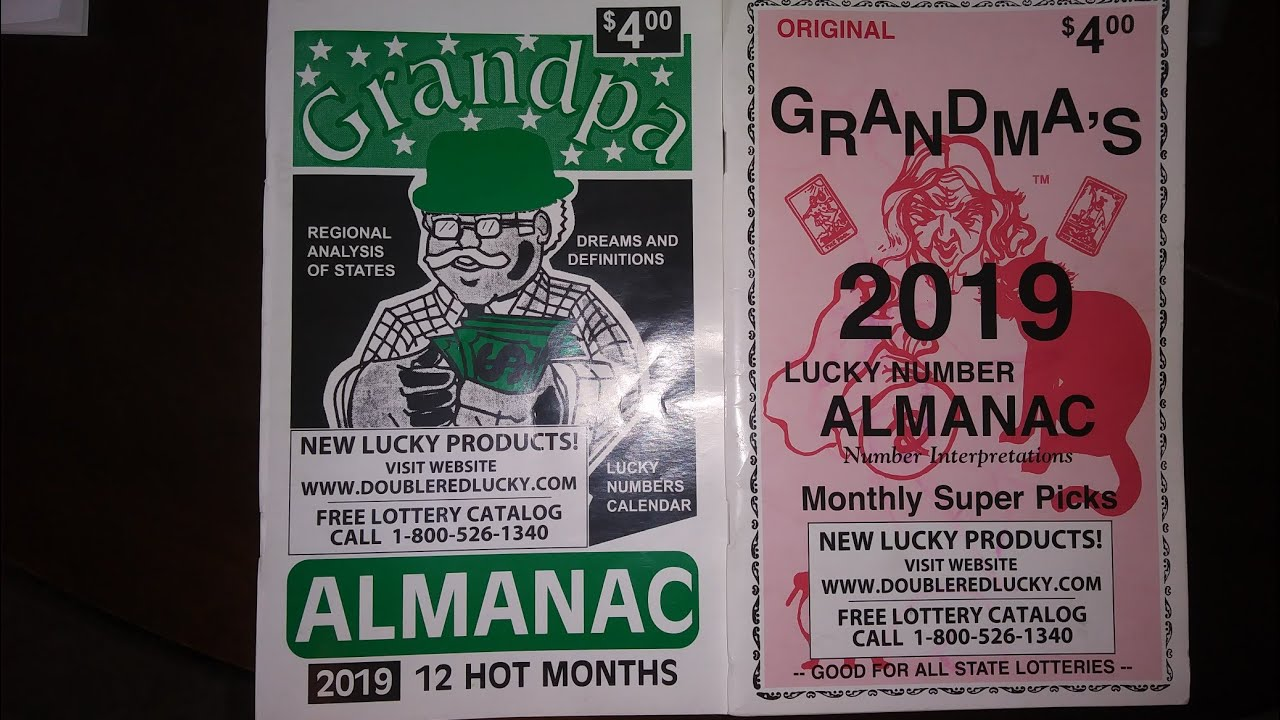 Grandma & Grandpas Lucky Lottery Numbers Almanac for August2019! !