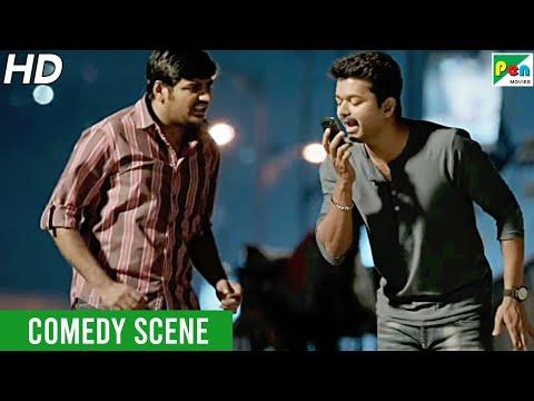 Vijay Funny Phone Conversation - Comedy Scene | Khakhi Aur Khiladi | Hindi Dubbed Movie | Samantha