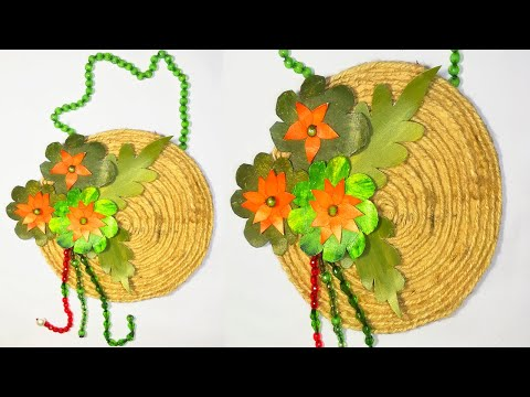 How to make jute wall hanging Wall Decor Showpiece Making Using Jute Rope Craft Idea with Jute Rope