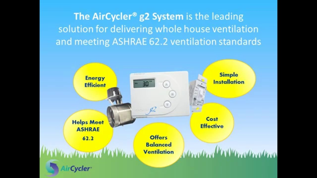 aircycler® g2 whole house ventilation system (no sound) - youtube