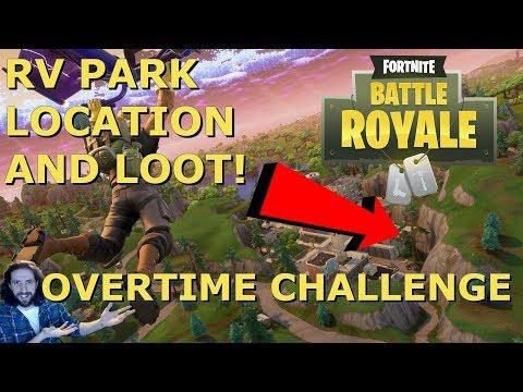 RV Park Fortnite Location | Fortnite Overtime Challenges