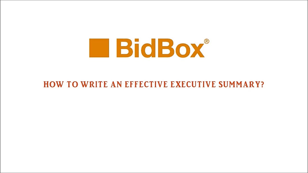 How to write an effective executive summary YouTube – How to Write an Effective Executive Summary