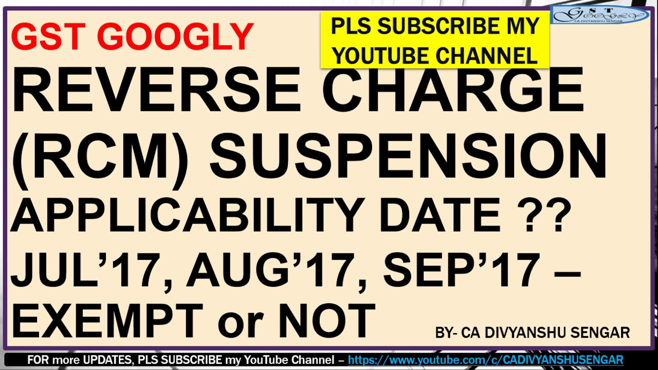 Gst rcm suspension date notification 38 2017 13102017 in hindi gst rcm suspension date notification 38 2017 13102017 in hindi spiritdancerdesigns Gallery