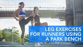 BEST 7 Leg Exercises for Runners Using A Park Bench collab with @Runningbrina