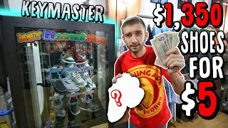 I Won $1,350 SNEAKERS For $5 in the KEYMASTER MACHINE! ($120 spent total)