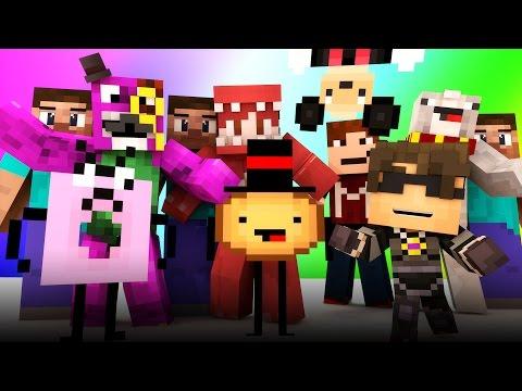 Minecraft Mini-Game : DO NOT LAUGH! (DEMON DISNEY & THE PSYCHO DONUT!) w/ Facecam