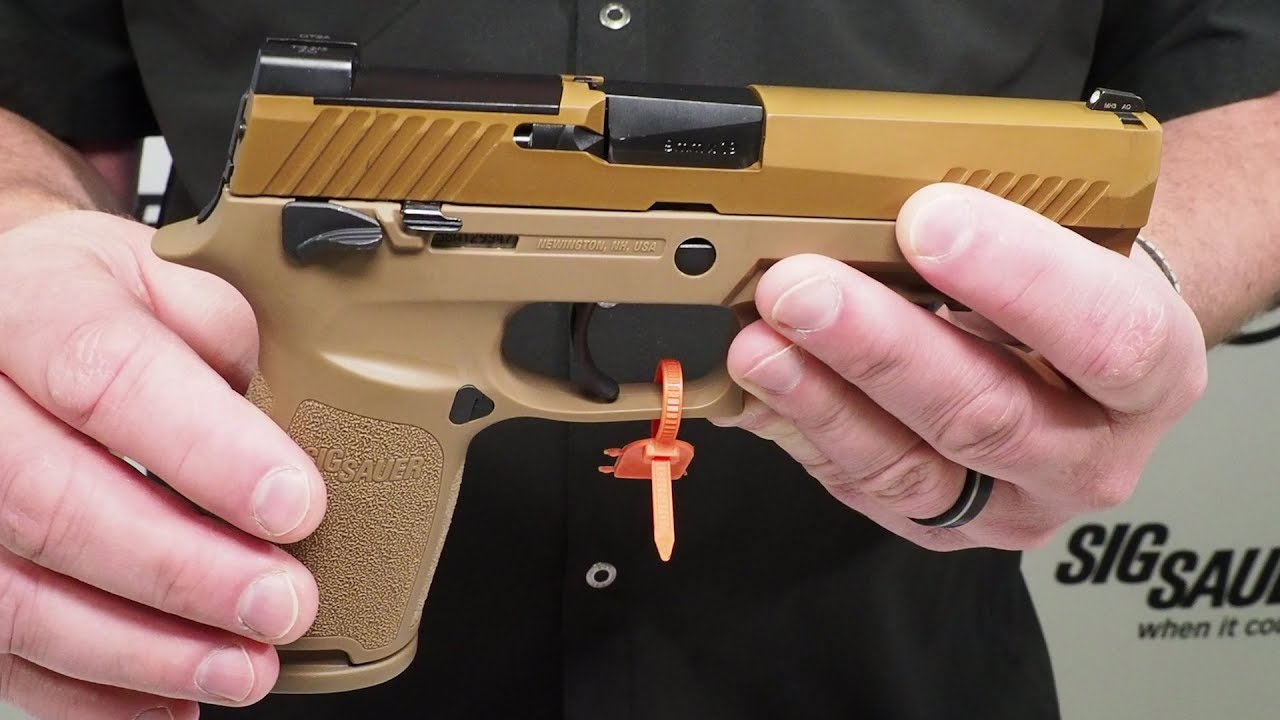 U S  Army M17 SIG Sauer P320 Overview with Phil Strader - SHOT Show 2018