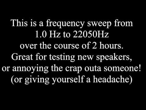 1 Hz to 22050 Hz in 2 Hours