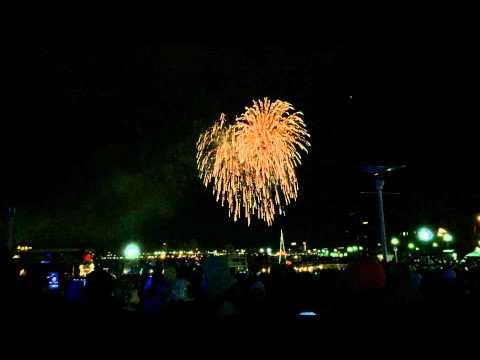 2014-2015 New Year Fireworks(Christopher Columbus Waterfront Park,Boston)