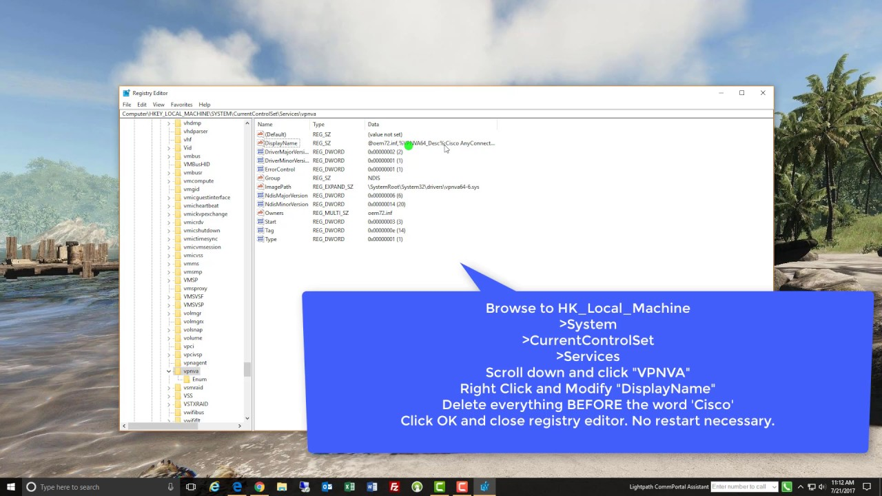 Cisco anyconnect – windows 8 – the vpn client driver encountered.