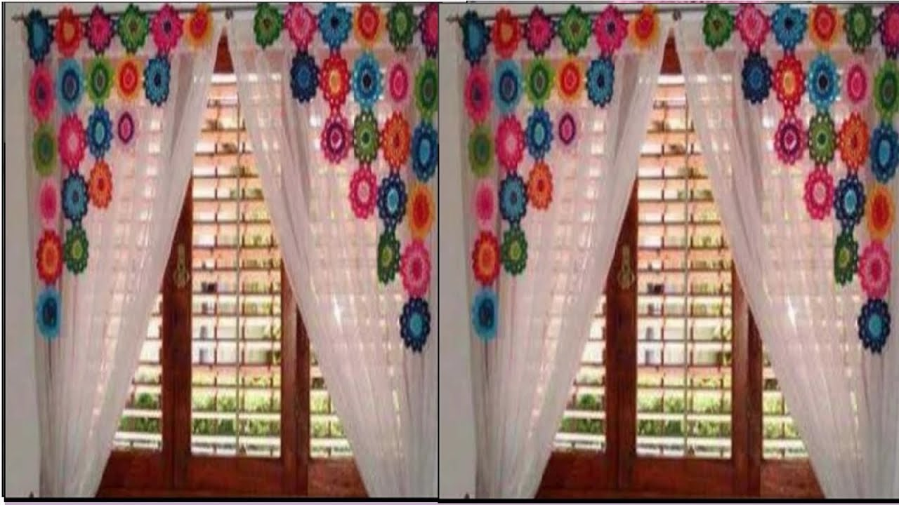 HERMOSAS CORTINAS A CROCHET - YouTube