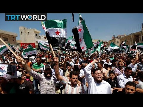 The War in Syria: Idlib residents protest against Syrian regime