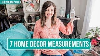 7 Home Decor Measurements You Need to Know