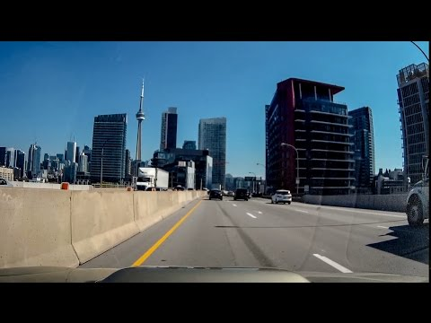 driving to downtown toronto