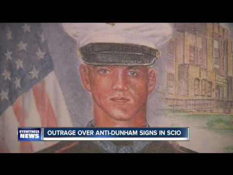 """Outrage over """"Jason Dunham -No Hero"""" signs in Scio"""