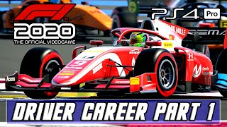 F1 2020 - Gameplay Driver Career Part 1 [PS4 PRO]
