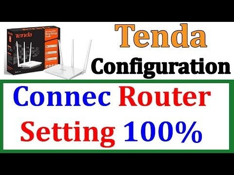 How To Configure Tenda Router Connect Cable Internet