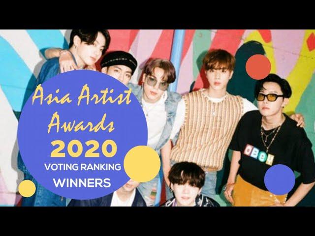 Asia Artist Awards 2020 Voting Ranking Youtube