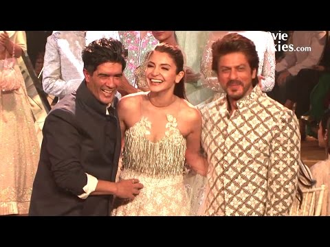 Shahrukh Khan & Anushka Sharma's Ramp Walk For Manish Malhotra's Fashion Show - Mijwan