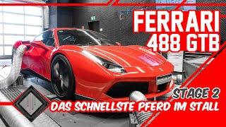 Ferrari 488 GTB | Chiptuning Stage 2 – Dyno – 100-200 | mcchip-dkr