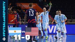 Argentina 11-0 Estados Unidos - RESUMEN - Mundial de Futsal - Fecha 1 - Zona F - Lituania 2021