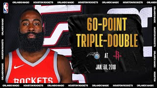 Magic @ Rockets: Harden notches first ever 60-point triple-double (Jan. 30, 2018) #NBATogetherLive
