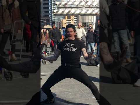 Yonge and dundas square street performance!
