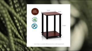 Furinno� 99800 Turn-n-tube End Table Corner Shelves (2 Dark Cherry Black)