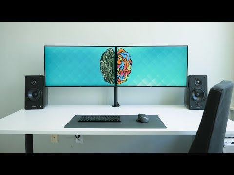 ultimate-dual-monitor-desk-setup!