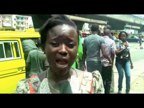 MUST WATCH: Female Agbero with cane in Nigeria - real-life Nigerian Movies