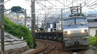 2019/07/22 JR貨物 8090レ(レール輸送) 1071レに遅れ貨物 月スジ1060レ