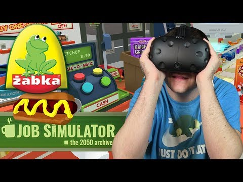 ZOSTAŁEM PRACOWNIKIEM ŻABKI - Job Simulator (HTC VIVE VR)
