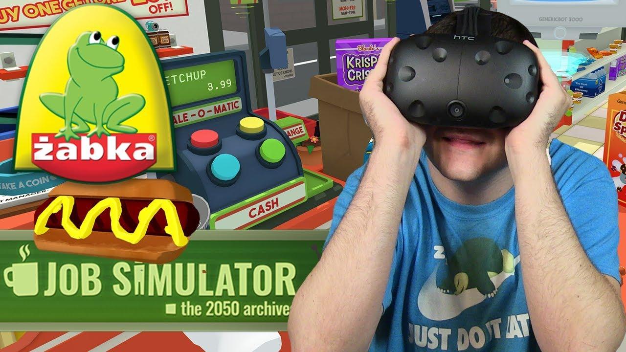 ZOSTAŁEM PRACOWNIKIEM ŻABKI – Job Simulator (HTC VIVE VR)