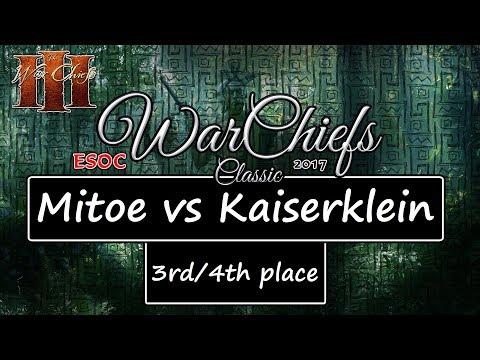 [AoE3] ESOC WarChiefs Classic — BRONZE MATCH: Mitoe vs Kaiserklein