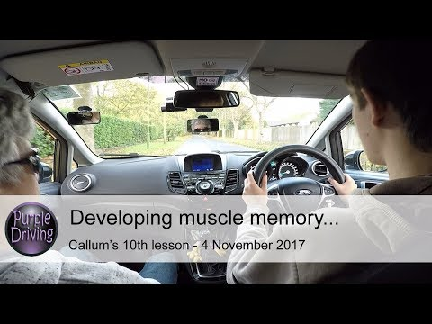 Developing muscle memory. Callum's 10th lesson 4/11/17