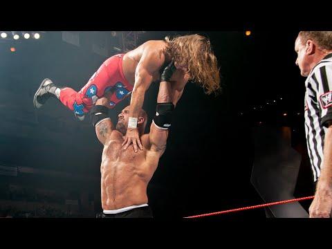 Batista returns to interrupt a dream Goldberg vs Shawn Michaels match: Raw, Oct 20, 2003