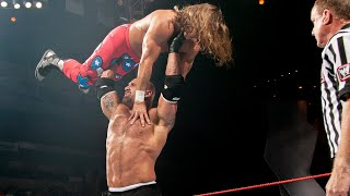Batista returns to interrupt a dream Goldberg vs. Shawn Michaels match: Raw, Oct. 20, 2003