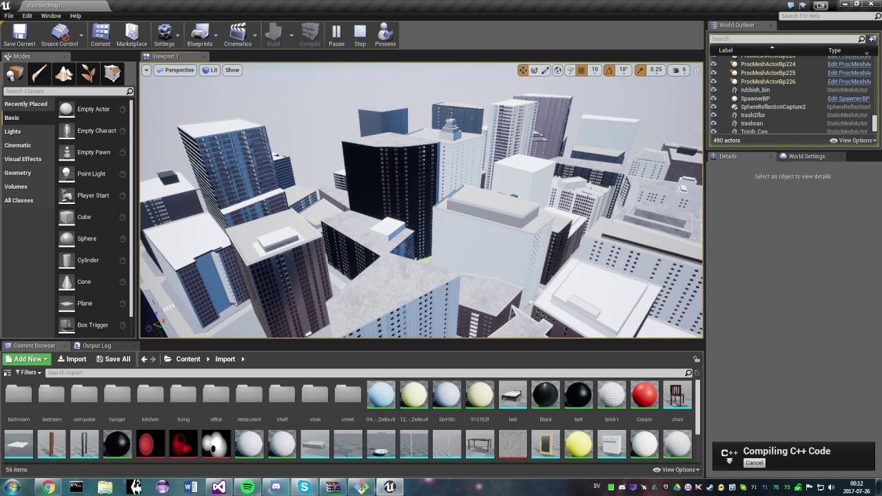 Seamless procedural cities with interiors (WIP)
