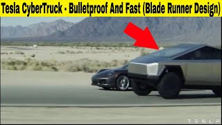 Tesla Cybertruck - Outrun Porche 911, Bulletproof Design, And Elon Trolls Ford Towing A Ford Uphill