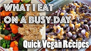 WHAT I EAT IN A (BUSY) DAY #26 | Quick Vegan Recipes(, 2016-12-21T19:00:04.000Z)