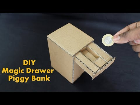 how to make a cardboard draw