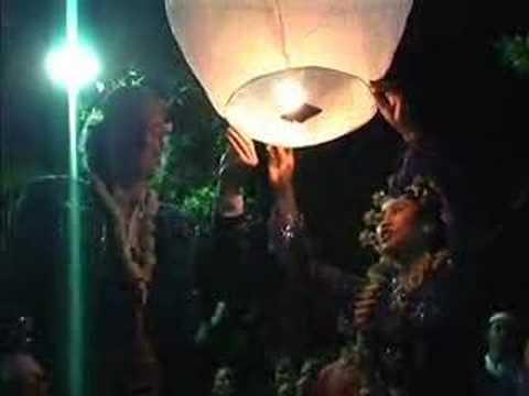 Tropical Paradise Sky Lantern Launch (Indonesia, East Java)