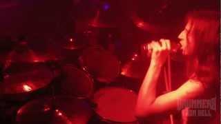 VADER@Return to  the Morbid Reich live 2012-James Stewart (Drum Cam)