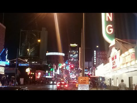 Walking Fremont St Las Vegas Tuesday Night Vlog