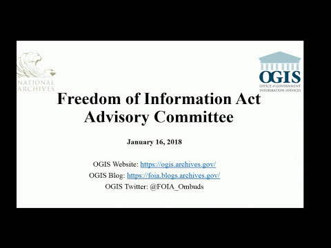 Freedom of Information (FOIA) Act Advisory Committee