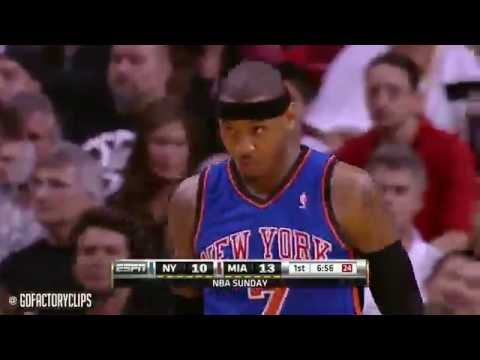 Throwback LeBron James vs Carmelo Anthony Highlights 2011 02 27 Knicks at Heat   SICK!