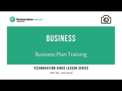 Technovation Challenge Palestine - Business Plan training