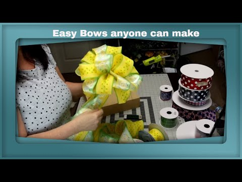 Learn how to make 9 different bows by hand- Easy bows anyone can make