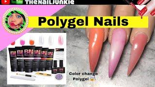 Polygel Nails Tutorial |BabeNail Review | Color change Polygel