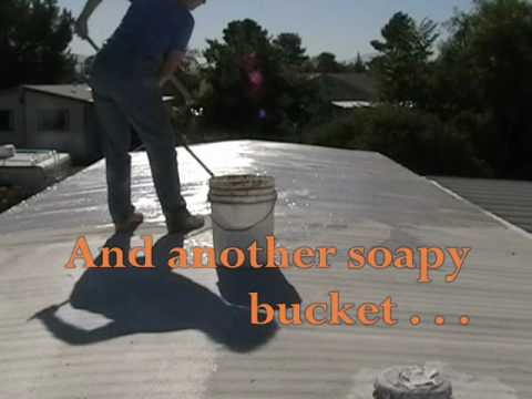 061410 simply survival painting the mobile home roof part 1 youtube - Mobile Home Roof Coating